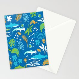 Sharks, Sting Rays and Turtles Stationery Cards