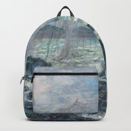 Fishing Nets at Pourville by Claude Monet Backpack
