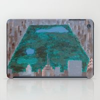 central park iPad Cases featuring central park by cityclectic design