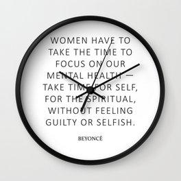 Queen Bey Quote - Women Wall Clock