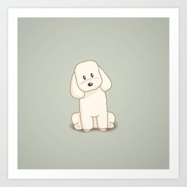Toy Poodle Dog Illustration Art Print