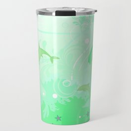 Dolphins Swimming Travel Mug