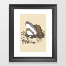The Mullet Shark Framed Art Print
