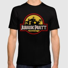 Jurassic Pratt Mens Fitted Tee MEDIUM Black