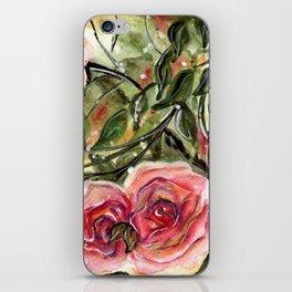Rose garden, red roses pattern iPhone Skin