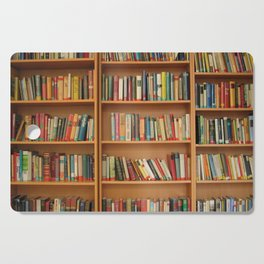 Bookshelf Books Library Bookworm Reading Cutting Board