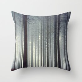 Foggy Woods Throw Pillow