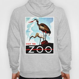Visit the Zoo, herons Hoody