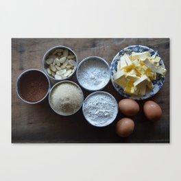 Cake ingredients Canvas Print