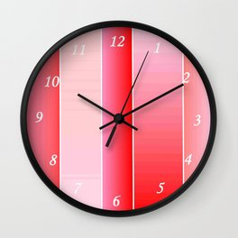 Pink Color Wall Clock