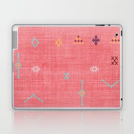 Cactus Silk Pattern in Pink Laptop & iPad Skin