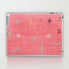 Cactus Silk Pattern in Pink Laptop & iPad Skin