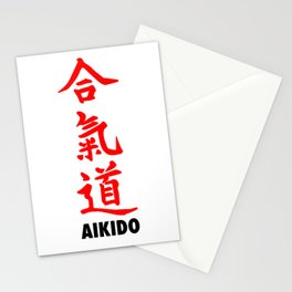 Japanese Aikido Stationery Cards