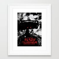 blade runner Framed Art Prints featuring Blade Runner by Dan K Norris
