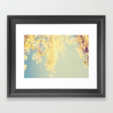 Fall Bokeh Framed Art Print