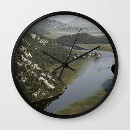 Rijeka Crnojevica  Montenegro Wall Clock