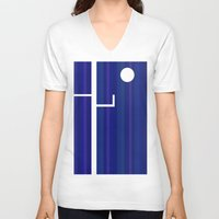 discount V-neck T-shirts featuring Surreal night by Roxana Jordan