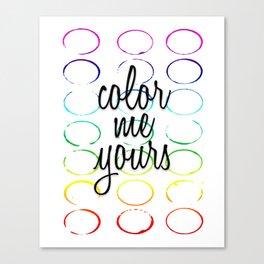 Color Pattern Canvas Print