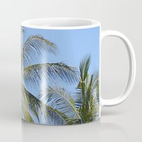 indonesia Mugs featuring Palm (Bali, Indonesia) by Christian Haberäcker - acryl abstract