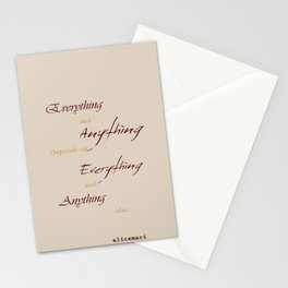 Everything Anything Stationery Cards