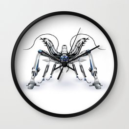 An illustration of a fantastic battle robot-insect.  Wall Clock