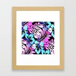 Hawaiian Flowered Shirt Print Pink Blue Framed Art Print