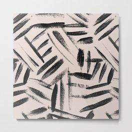 Tribal pattern nuetral Metal Print