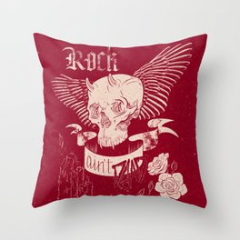 Rock 'n' Roll RED Throw Pillow