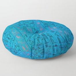 Ancient egyptian blu Floor Pillow