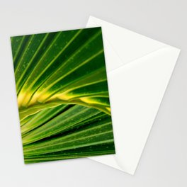 The green fan by Laila Cichos Stationery Cards