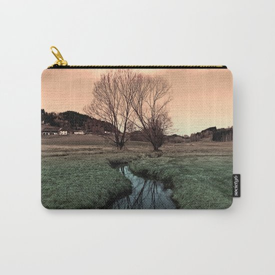 A stream, dry grass, reflections and trees II   waterscape photography Carry-All Pouch