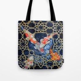 Koi Garden Fish Painting Tote Bag