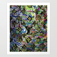 lv Art Prints featuring LV by JANUARY FROST