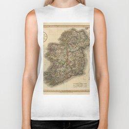 Map of Ireland 1799 Biker Tank