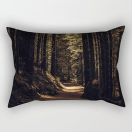 Forest path Rectangular Pillow