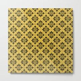 Primrose Yellow Patchwork Metal Print