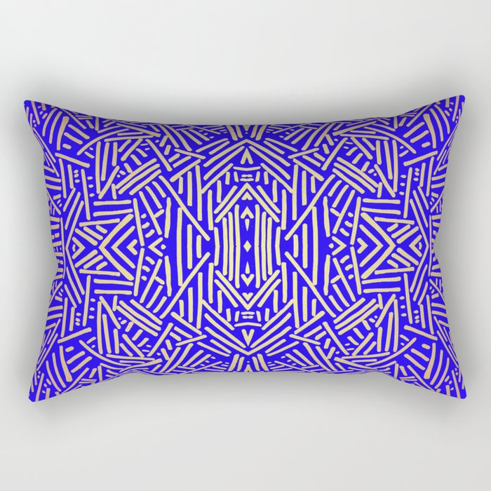Radiate (Yellow/Ochre Royal) Rectangular Pillow