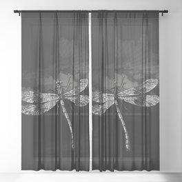 DRAGONFLY II Sheer Curtain