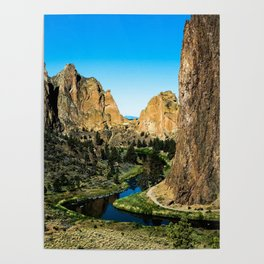 Rocks + River // Hiking Mountains Colorado Scenic View Landscape Photography Forest Backpacking Vibe Poster