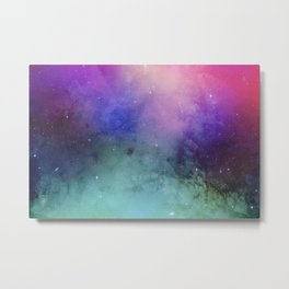 Mystical azure galaxy Metal Print