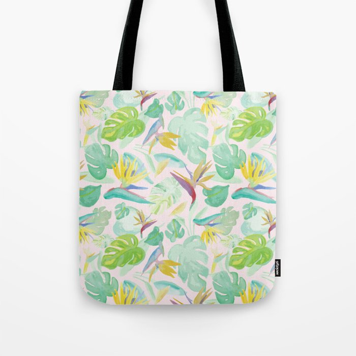 Birds of Paradise Pattern Tote Bag