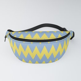 Zigzag Line Pattern Color of the Year 2021 Illuminating 13-0647 Yellow and Placid Blue 15-3920 Fanny Pack