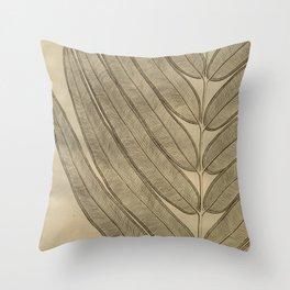 Naturalist Leaf Throw Pillow