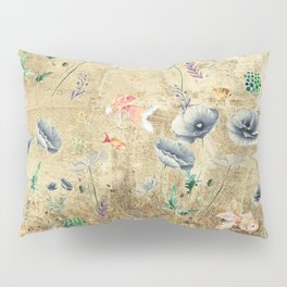 Fishes & Garden #Gold-plated Pillow Sham