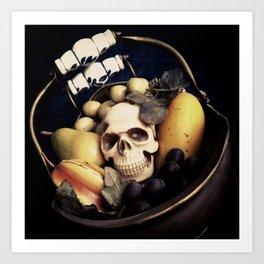 Skull & Fruit Bowl Art Print