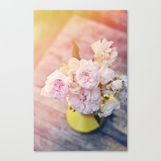 The Last Days of Spring - Old Roses II Canvas Print