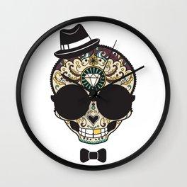 Blind Sugar Skull Wall Clock