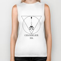 sia Biker Tanks featuring Chandelier Sia  by Sebastian A