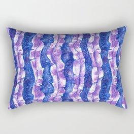 Seaweed Stripe, Blue & Violet Pattern Rectangular Pillow