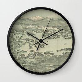 Vintage Pictorial Map of Lake Winnipesaukee (1903) Wall Clock